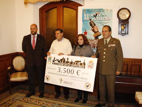 El Cross de la Artillería dona 3.500 euros a la lucha contra el cáncer.-