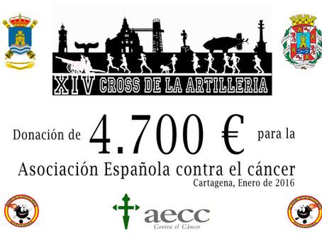El día 27 de enero se entregará el cheque donativo del Cross a la AECC.-