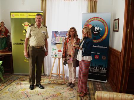 Entrega del premio del concurso del cartel anunciador del XVII Cross de la Artillería.