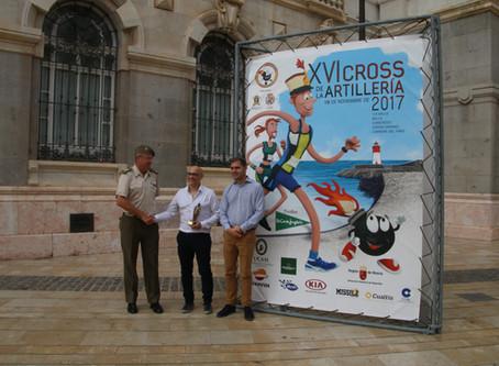 Entrega del premio del concurso del cartel anunciador del Cross de la Artillería.