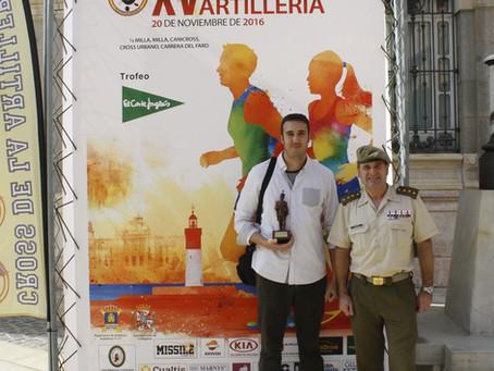Entrega del premio del concurso del cartel anunciador del Cross de la Artillería