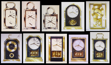 Traditional and transitional clock designs