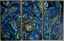 In Waves triptych