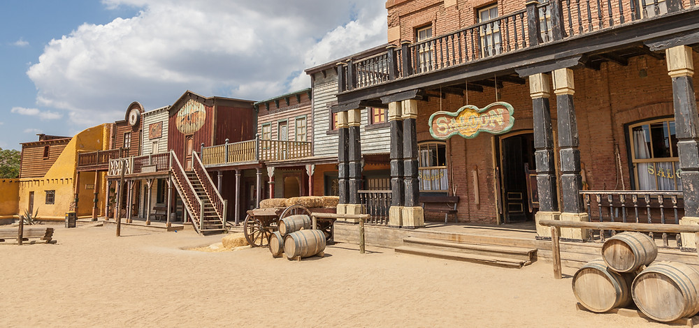 An old western town circa the 1880s.