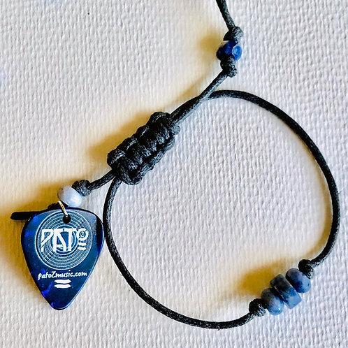 Pato Z Pick and Sodalite Bead Bracelet