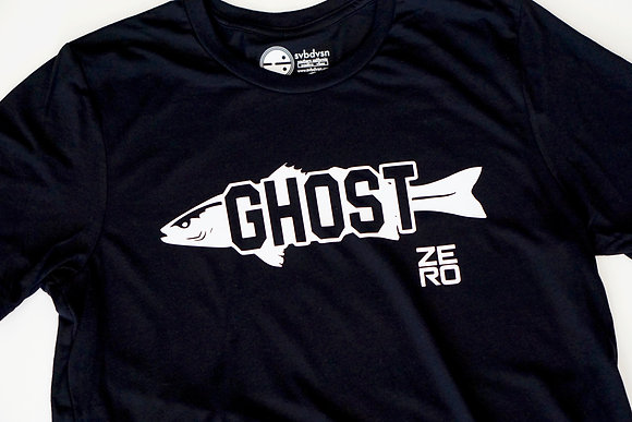 Ghost White Sea Bass Black Shirt Front