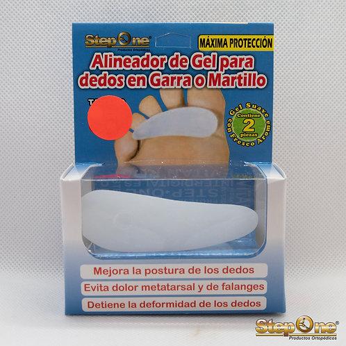 Alineador de Gel para dedos en Garra o Martillo - 3 anillos