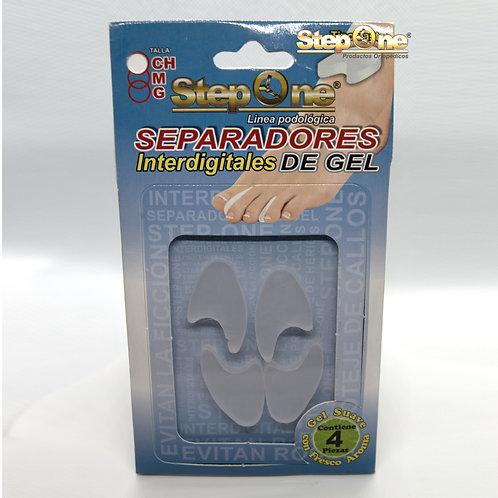 Separador interdigital de gel tipo Sastre