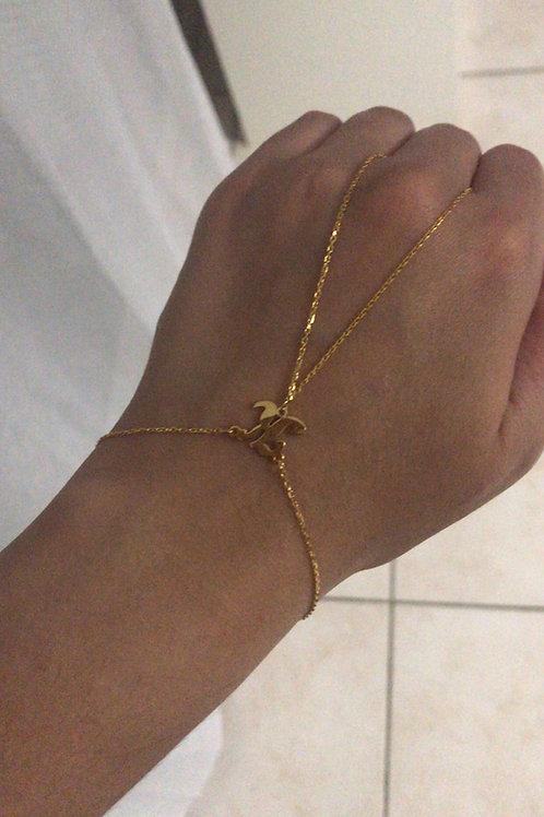 Bracelet avec bague au doigt personnalisé