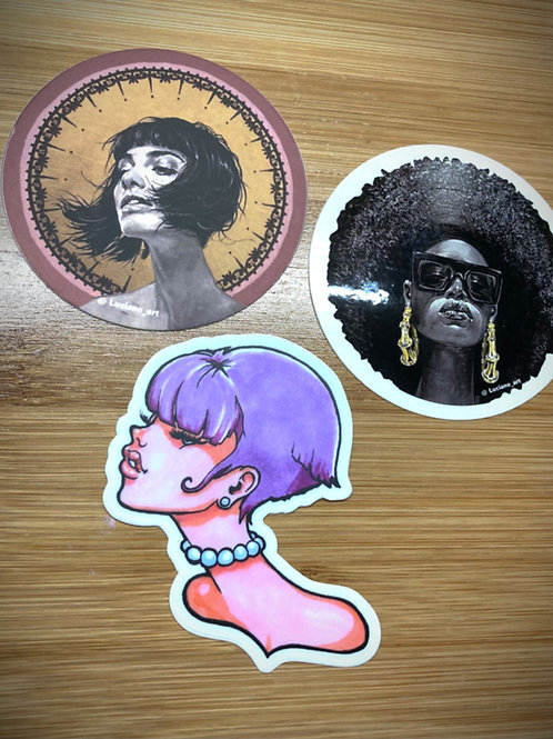 Sticker Pack of 3