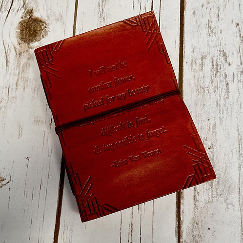 """""""Not Another Flower"""" Handmade Leather Journal"""
