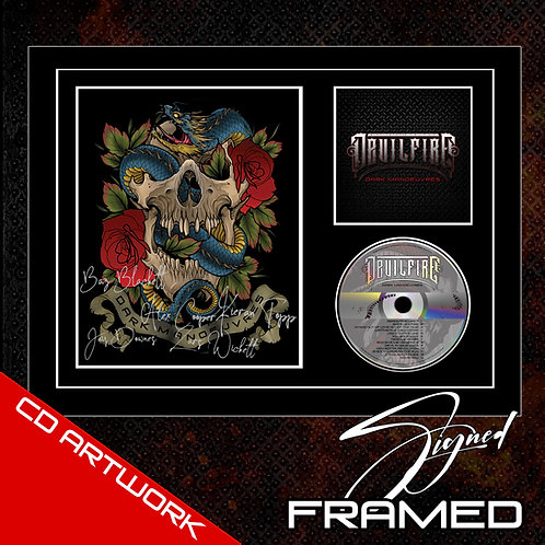 DEVILFIRE - DARK MANOEUVRES SIGNED CD ARTWORK IN FRAME