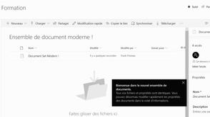 Oh ! L'ensemble de documents dans la Modern Experience de SharePoint !