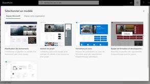 Les nouveaux modèles de site SharePoint sont en ligne !