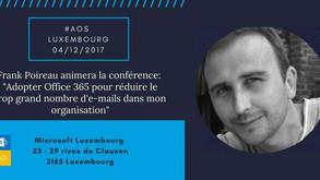 Rendez-vous le 4 décembre chez Microsoft Luxembourg pour l'édition 2017 grand format d AOS