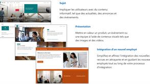Oh, des nouveaux modèles de site SharePoint !