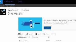 La version SharePoint 2016 APPROCHE - Changement dans les bibliothèques de document sur SharePoint O