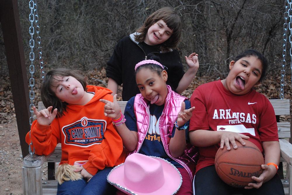 Campers having fun at camp!