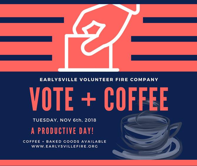 Vote + Coffee this Tuesday, November 6th.