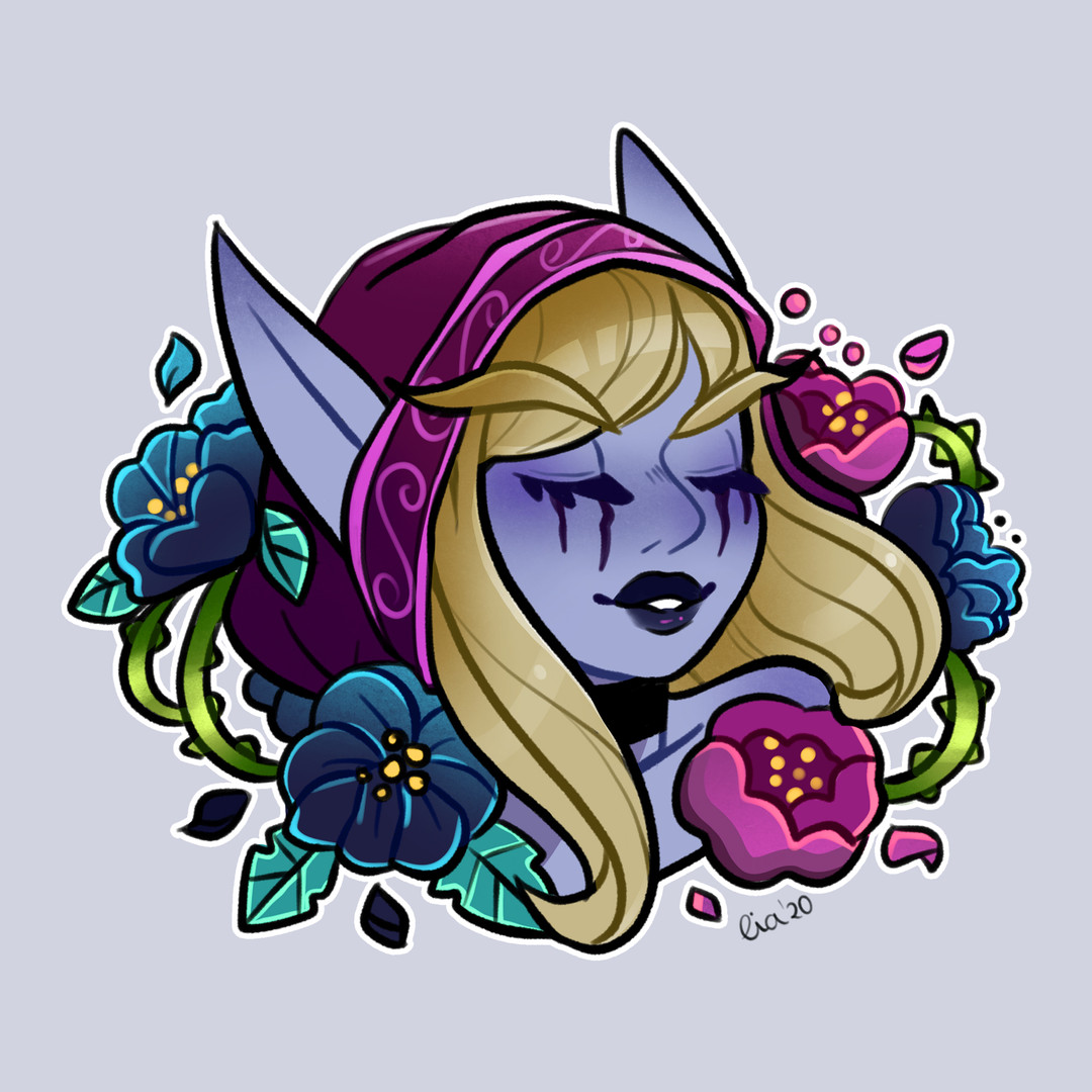Liadoodles - Flowers from Azeroth - Sylv