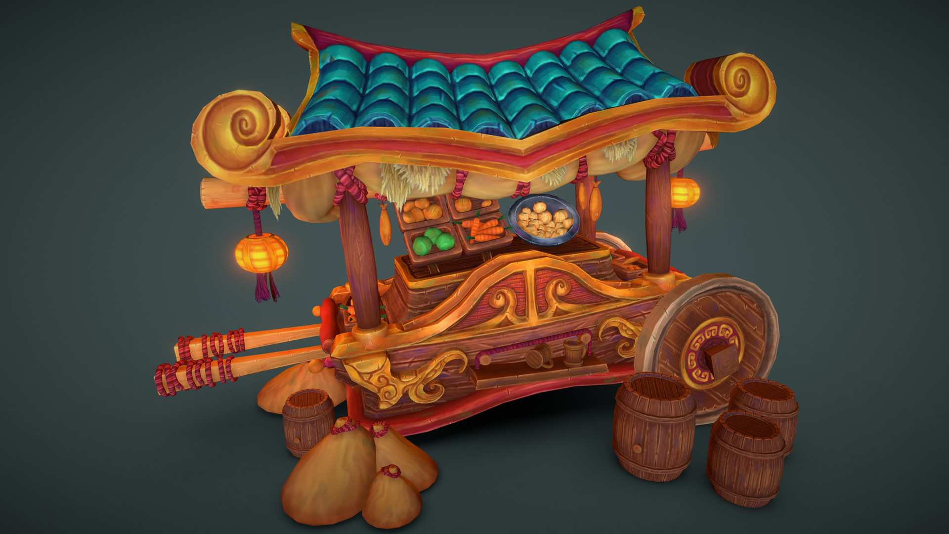 Georg Klein - Pandaren Food Cart - World