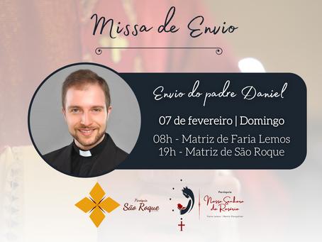 Paróquia Nossa Senhora do Rosário prepara missa de envio para o padre Daniel D'Agnoluzzo Zatti