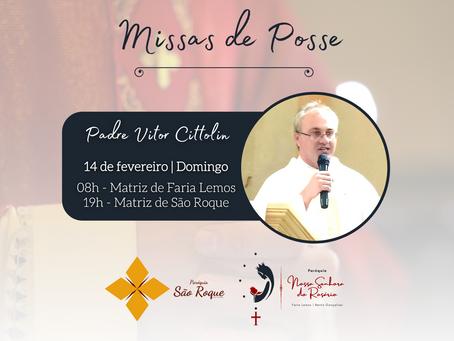 Paróquias São Roque e Nossa Senhora do Rosário acolhem novo pároco neste domingo, 14 de fevereiro