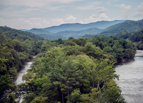 French Broad River & Paint Creek Meet