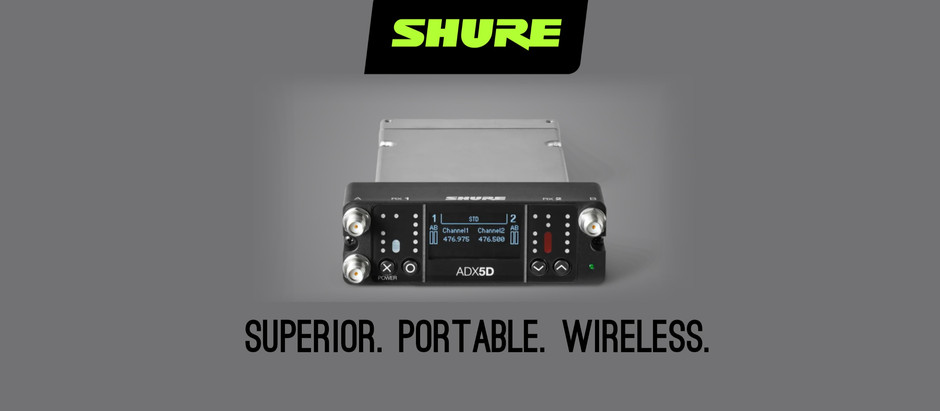 Introducing the New Shure ADX5D Dual-Channel Portable Wireless Receiver