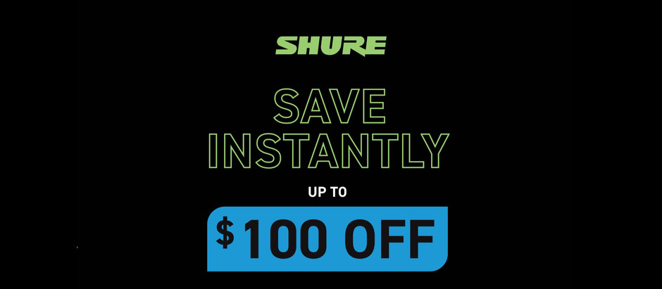 Shure Holiday Promotion!
