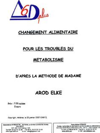 "Documentation ""Changement alimentaire"""