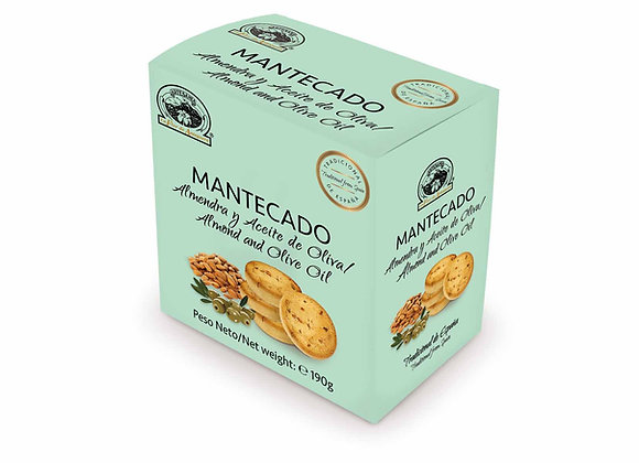 MANTECADO ALMENDRA Y ACEITE OLIVA 190g / Caja (10 Unidades)
