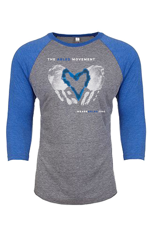 Heather Gray/Blue Raglan