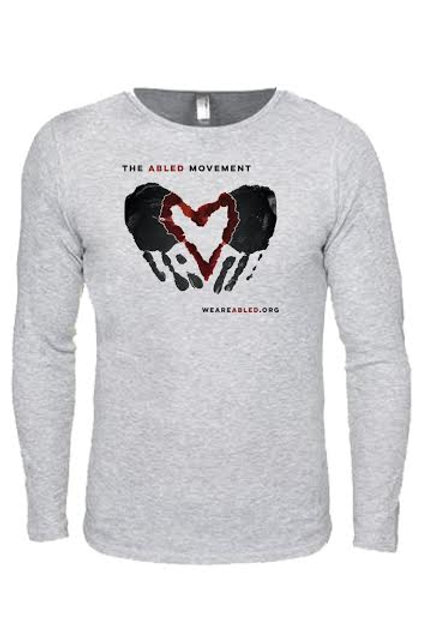 Light Gray Thermal/Red Heart