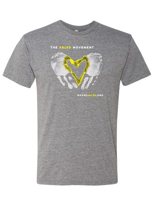 Gray/Yellow Heart T-Shirt
