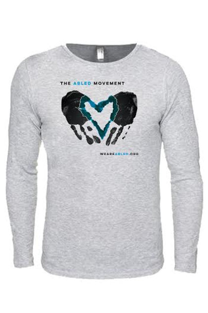 Light Gray Thermal/Blue Heart