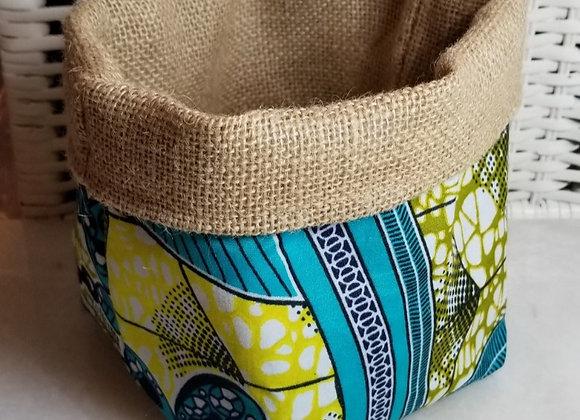 Basket-Soft-Olive/White/Turq BF Fabric