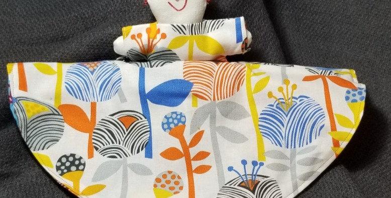 Topsy Turvy Doll-Bright Floral/Burk Multi