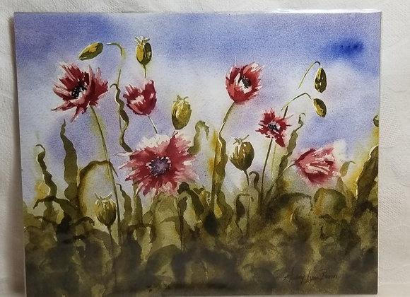 Photo Print 8x10 #FPE-2 - Poppies
