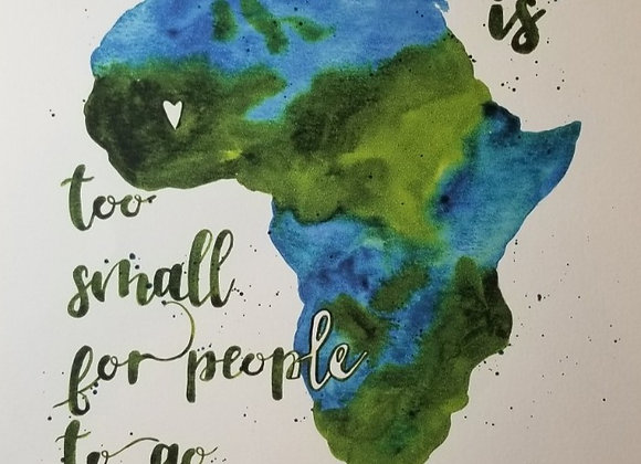 Printer Poster - This World is - green & Turq