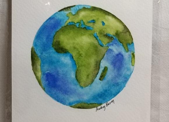 "Watercolour 5""x7"" #WCS-8 - Africa"