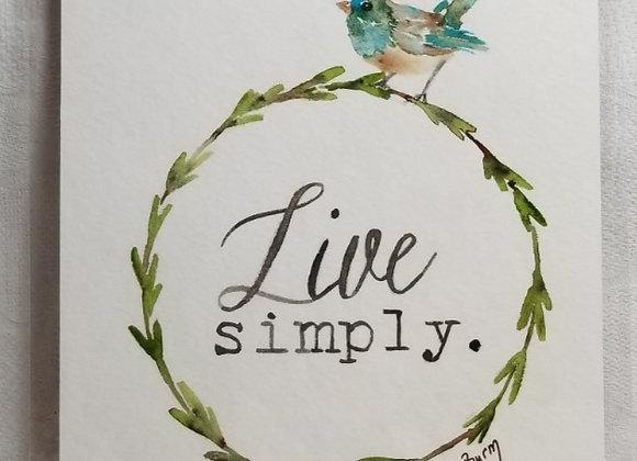 "Watercolour 5""x7"" #WCS-2 - Live Simply"