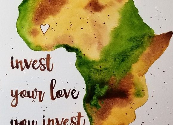 Where You Invest...Original Watercolour Brown/Green