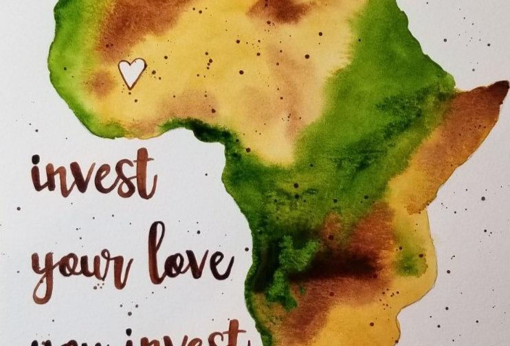 Where You Invest...Original Watercolour Brown/Green