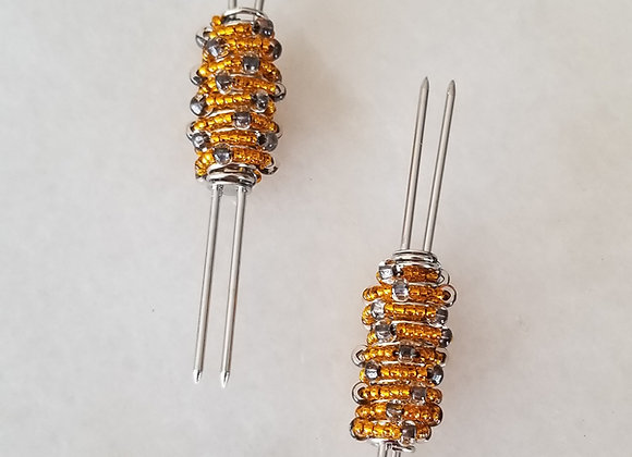 #BM-01  Diva Corn Pick - Orange Charcoal