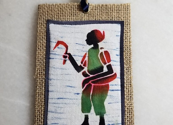Bookmark/Ornament - Field Worker