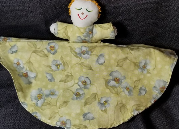 Topsy Turvy Doll - Paisley/Green & Blue Floral