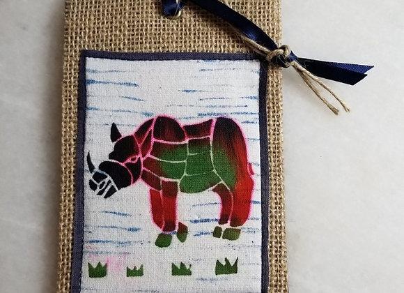 Bookmark/Ornament - Rhino