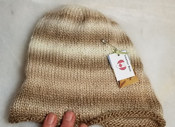 Toque Knit  #KC-31 - Beige Multi Wool