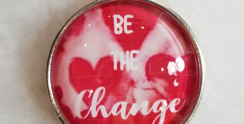 """Necklace - Be the Change - Hearts 18"""""""